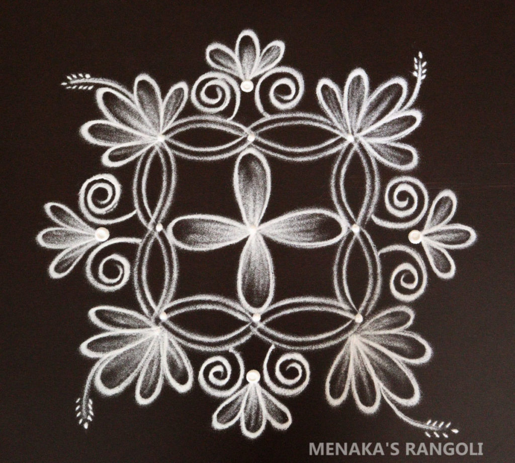 Double Stroke Rangoli Design
