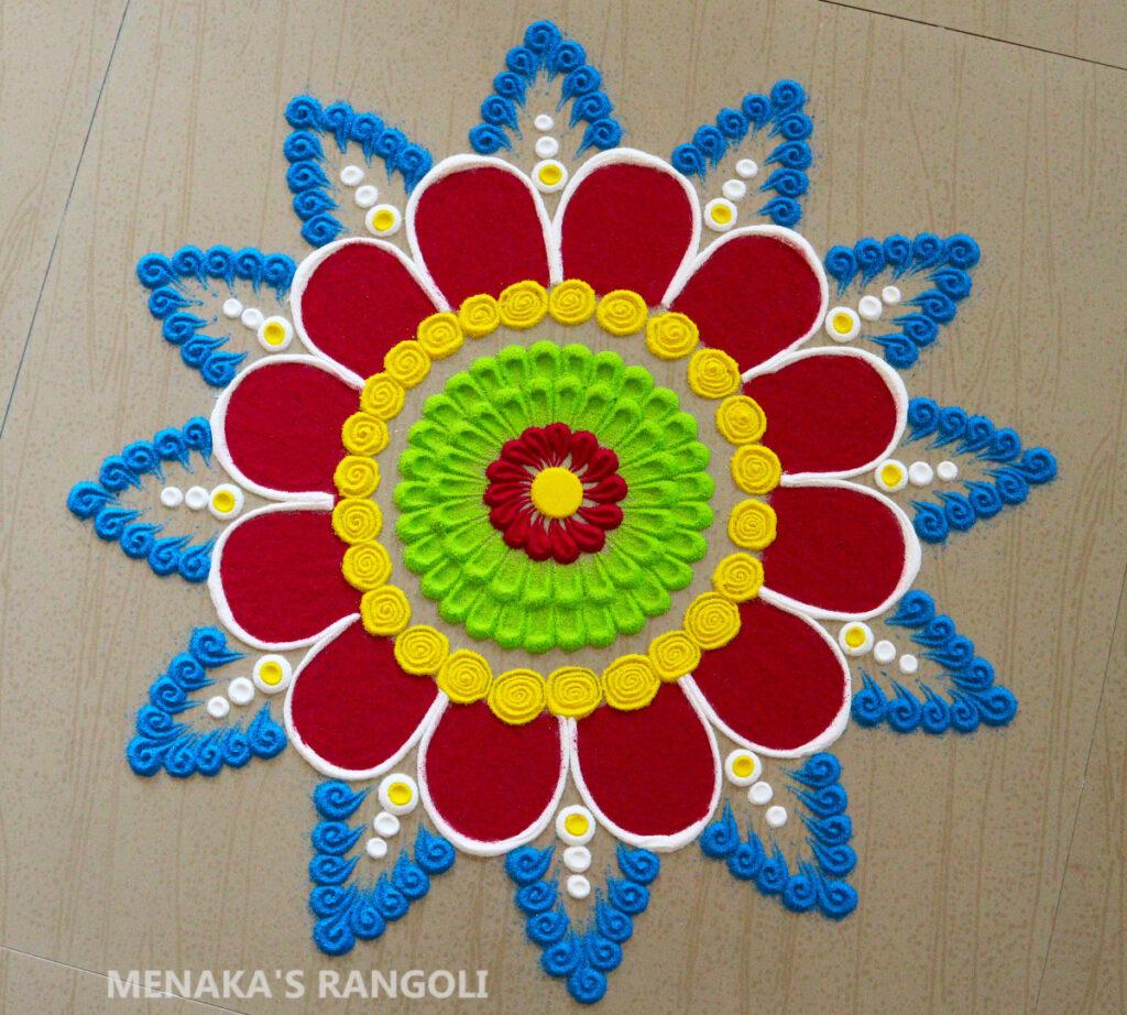 Color Rangoli Photo