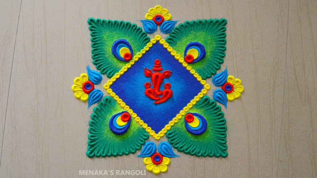 Ganesha Rangoli Images