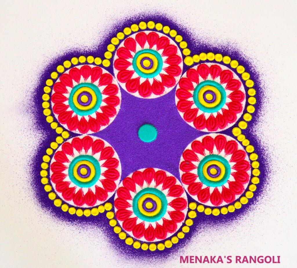 Color Rangoli Images For Diwali