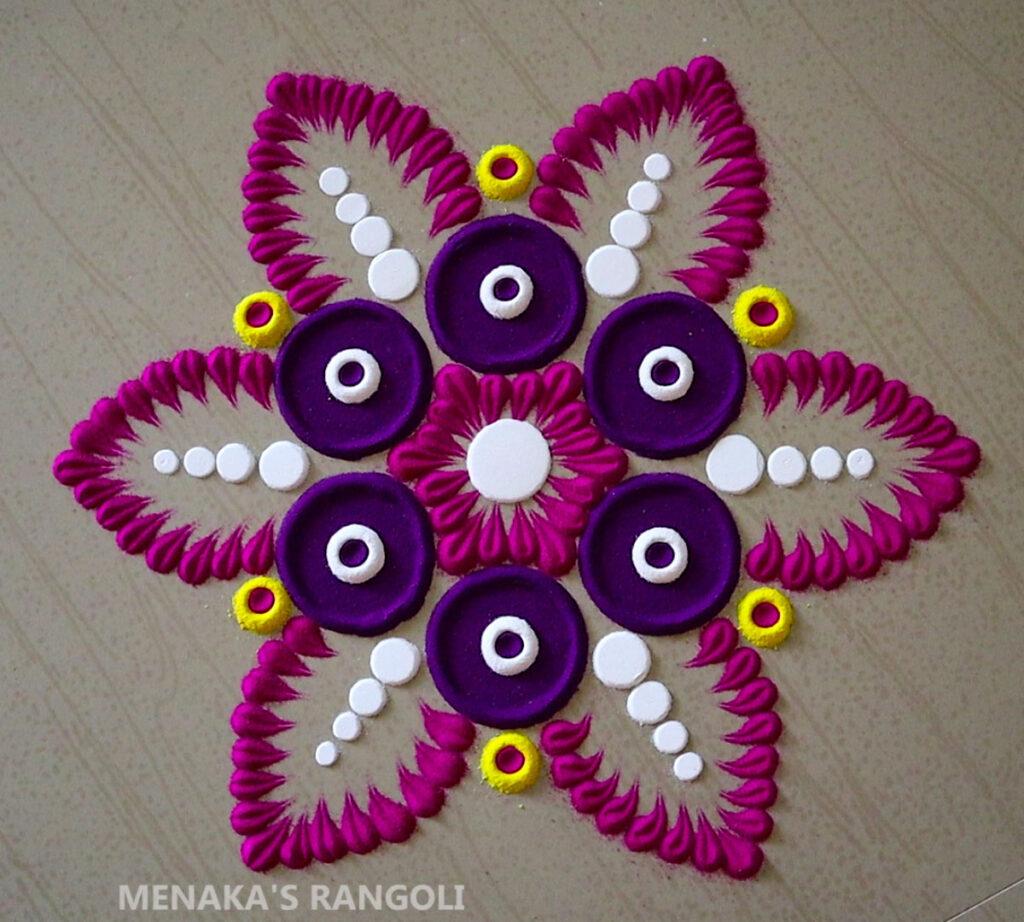 Flower Rangoli Photos