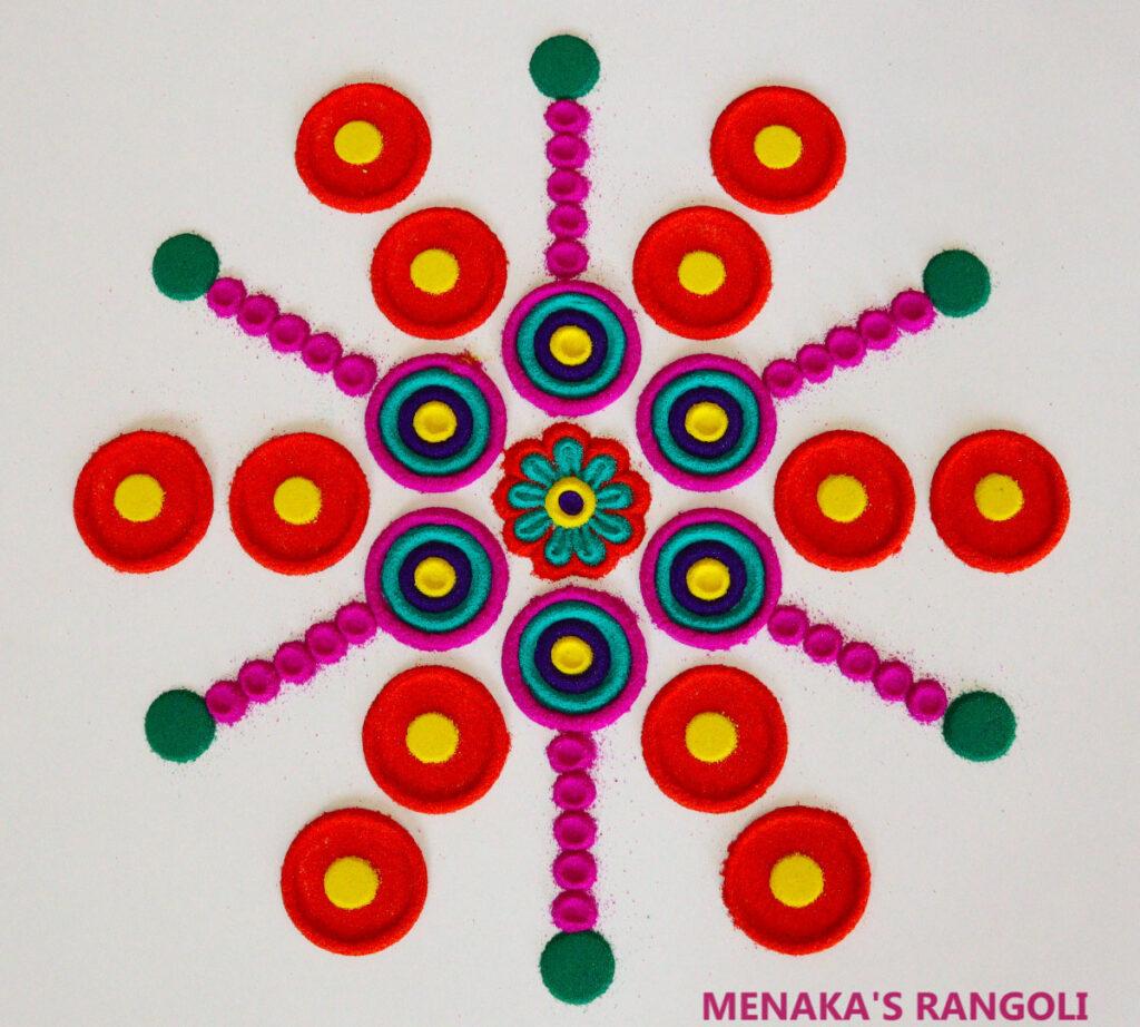 Color Rangoli For Diwali