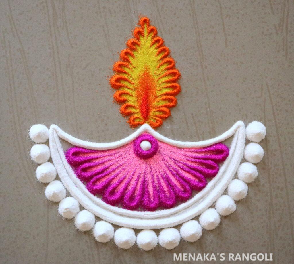 Diya Rangoli For Diwali