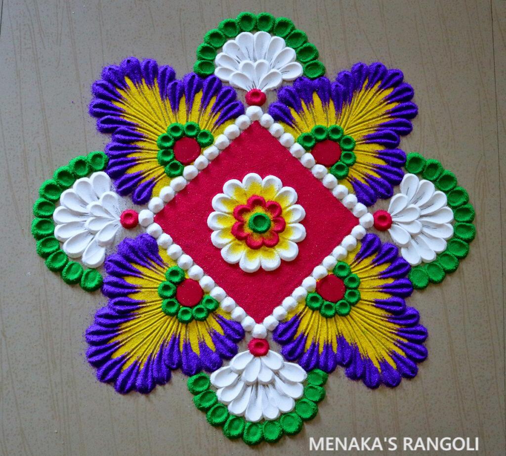 Color Rangoli Designs