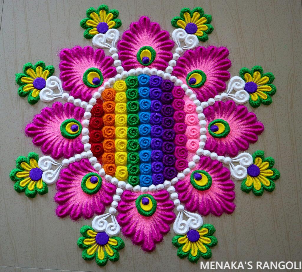Color Rangoli Design