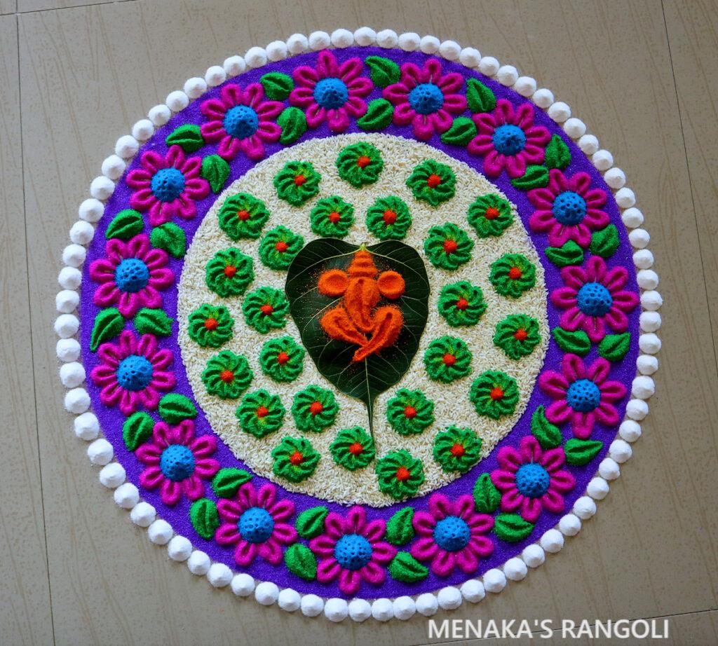 Ganesha Rangoli Designs