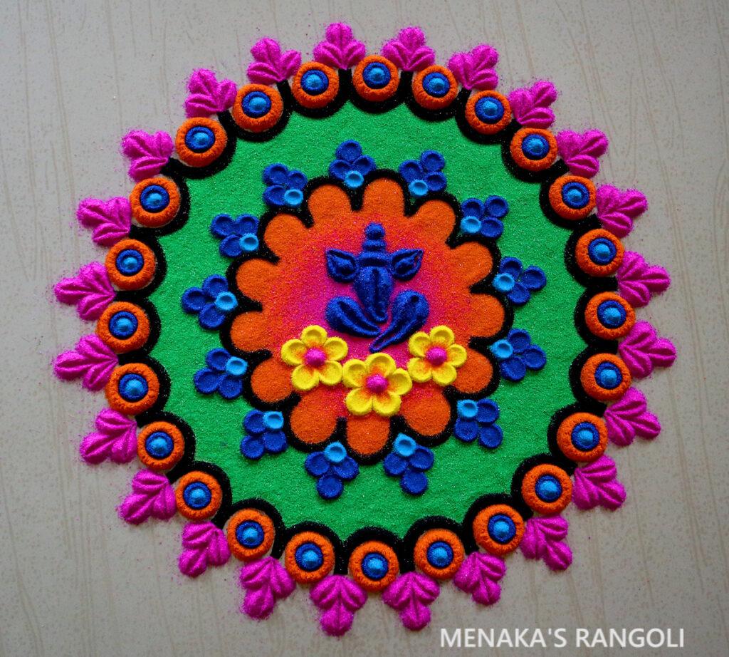 Ganapathi Rangoli Design