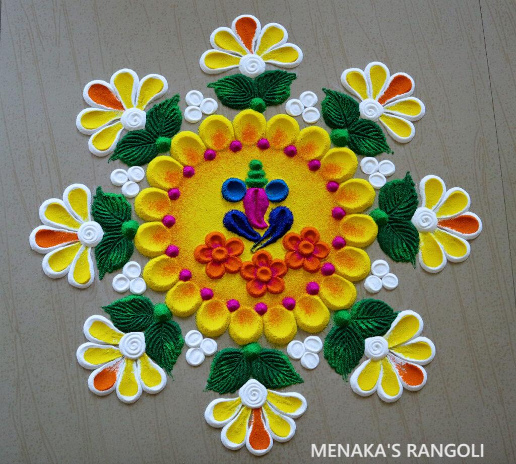 Easy Ganesh Rangoli